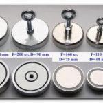 Устройство и типы поисковых магнитов. Сила удержания поискового магнита